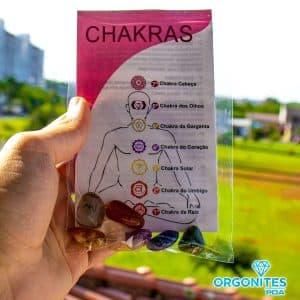 Pacote com Pedras do Kit Dos 7 Chakras