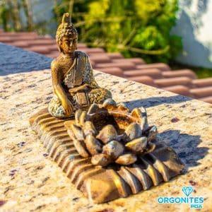 Porta Vela Dourado com Buda Sidarta
