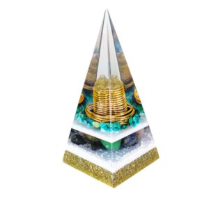 Orgonite Personalizado Pirâmide 16cm