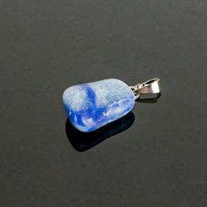 Pingente Quartzo Azul com Pino Prata