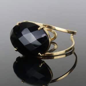 Bracelete de Obsidiana Negra