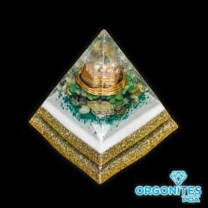 Orgonite Pirâmide Dourada 12cm