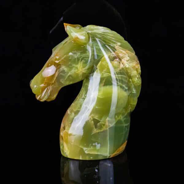 Cavalo Ônix Amarelo e Sardônia