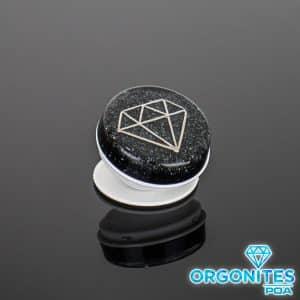 Pronta Entrega - Popsocket de Orgonite com Pingente Diamante Prata