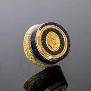 Pronta Entrega - Orgonite Bolso/Bolsa Dourado com Pingente Santo Antonio 4cm