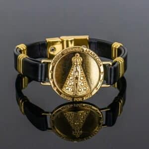 Pulseira Nossa Senhora Aparecida Dourada