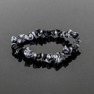 Mentoria - Kit com 3 Pulseiras de Obsidiana Negra Floco de Neve