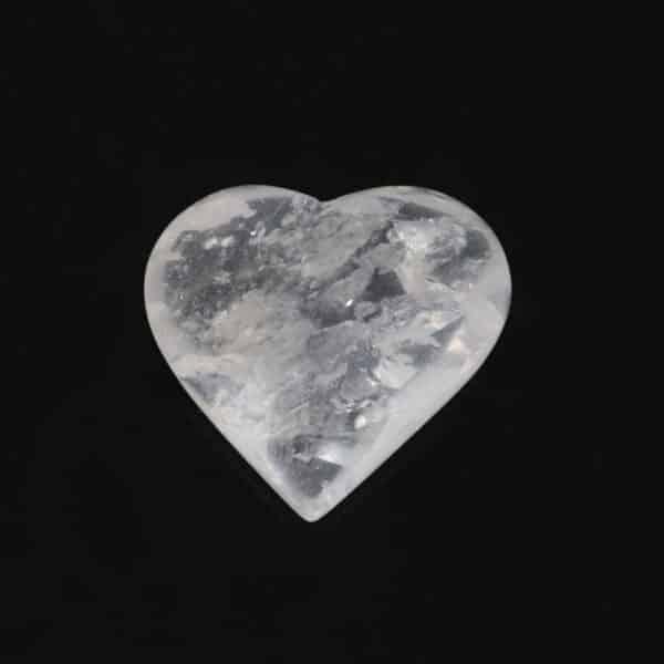 Cristal de Quartzo em Formato de Coração