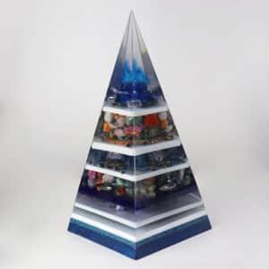 Orgonite Personalizado Pirâmide com Hematitas Magnetizadas 62cm
