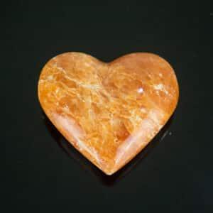 Coração de Calcita Laranja Orquidea - 6cm